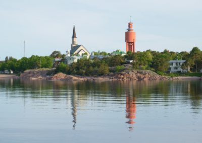 Hanko, Finland. Urban landscape on a June morning