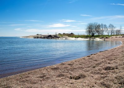 Finland,Hanko Early Summer. Scenic view of Baltic sea, and blue